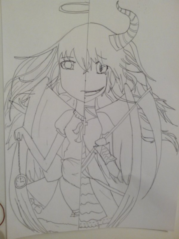 Alice transformation ange/démon