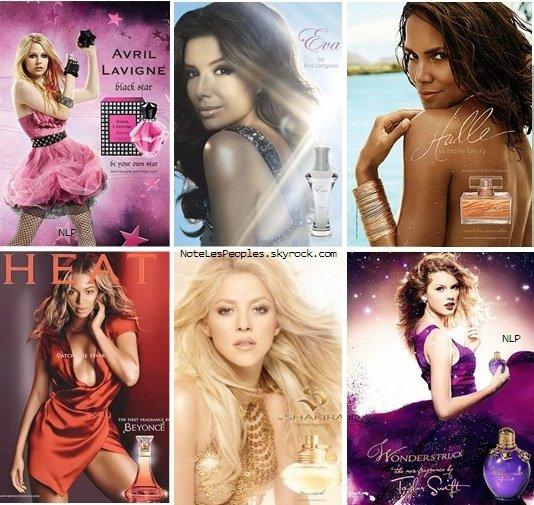 *  Ah, les célébrités et leurs parfums, tout une histoire! *