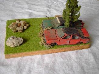 Premier diorama. (Dimensions : 14x19 cm)