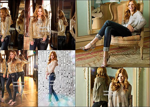 Découvrez les clichés de Bella pour la campagne « Miss Me Jeans » de cette année. Bella T. est absolument magnifique. Ma photo préférée est celle où elle est assise dans le fauteuil, à droite. - Et toi, tu aimes ?
