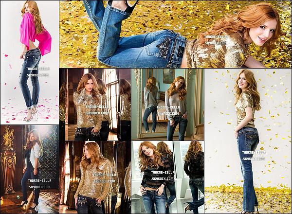 De nouveaux clichés de Bella pour la campagne « Miss Me Jeans » de cette année. On peut voir que Bella porte une tenue différente sur l'une des photos. J'adore le haut rose. Elle est vraiment magnifique la miss.