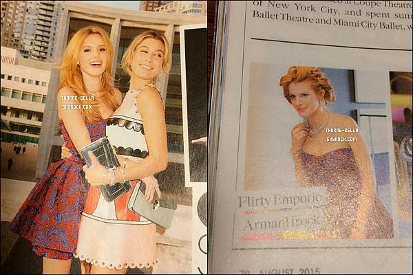 Découvrez 2 scans de Bella Thorne et Hailey Baldwin dans le magazine Teen Vogue.