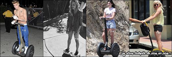 23/08/15 : Bella a été aperçue sur un segway et en compagnie d'une de ses amies dans les rues de Los Angeles. Encore une sortie sans son chéri, ça fait du bien. Je l'adore, mais à force ça saoule. Côté tenue, c'est simple mais efficace. Un beau top ![/font=Arial]