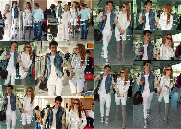 20/09/15 : La Bella et Gregg ont été vus à l'aéroport de Londres, dès leur arrivée, après une très longue journée. Ils étaient plutôt accordés niveau tenue.. Sinon comme toujours, ils sont très complices, c'est mignon. Et que la Fashion W. commence ![/font=Arial]