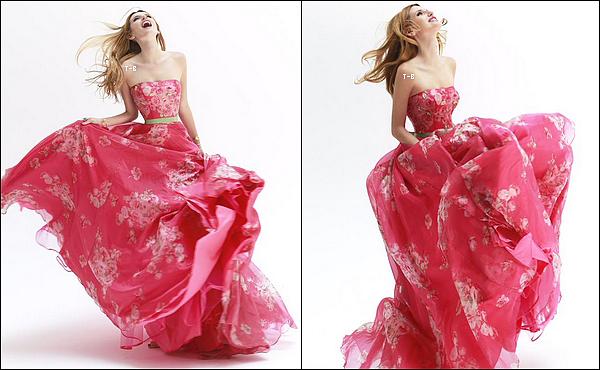 Découvrez trois magnifiques clichés de notre chère Bella Thorne pour Sherri Hill.