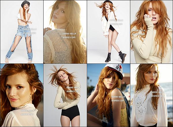 Découvrez un photoshoot de Bella Thorne, réalisé par Dani Brubaker, en 2012. Le photoshoot date mais les photos viennent seulement de sortir. Elle est absolument parfaite sur les clichés, j'adore. Au top !