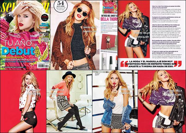 Notre sublime Bella fait la couverture du magazine mexicain« Seventeen », 2016.