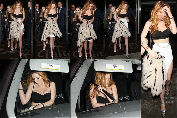 06/01/16 : Bella a été aperçue quittant une fête en compagnie d'Alexa Yarnell, organisée à Los Angeles. C'est en bombe que notre Bella a été photographiée. J'adore la tenue qu'elle porte, elle est vraiment très jolie ! Et vous, vos avis ?[/font=Arial]