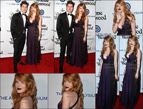 09/01/16 : Bella et Gregg ont posé sur le red carpet du Art of Elysium 2016 Heaven Gala, dans Culver City. J'aime beaucoup la robe que porte Bella, en revanche, j'aime moins son rouge à lèvre. Je le trouve trop foncé et ça ne lui va pas...[/font=Arial]