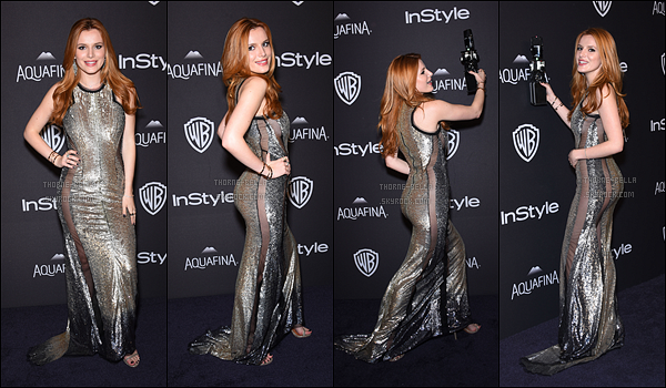 10/01/16 : Bella s'est rendue au The Weinstein Company and Netflix Golden Globe Party, dans Beverly Hills. Puis, elle s'est rendue au 2016 InStyle And Warner Bros. 73rd Annual Golden Globe Awards Post-Party. La robe est sympa ![/font=Arial]