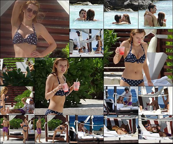 14/02/16 : Bella, et bien sûr, Gregg Sulkin ont été aperçus profitant de la piscine de leur hôtel, à Cancun. Les deux se sont envolés vers une destination idyllique, en raison de la St Valentin. Ils sont vraiment trop mignons ensemble ![/font=Arial]