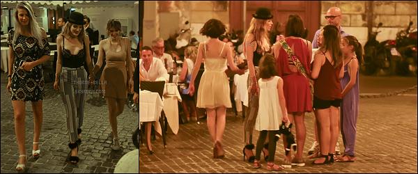 08/07/16 : Miss Bella ainsi que sa soeur et une amie ont été photographiées dans les rues de Rome, en Italie. L'actrice en a profité pour parler avec ses fans. Je trouve ça adorable venant de sa part. Pour la tenue, c'est joli. Un top ! Votre avis ?[/font=Arial]