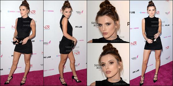 16/06/16 : Bella s'est rendue au Boobs Live Bachehelor Auction for Breast Cancer Research, à Los Angeles. C'est donc sur le red carpet que nous la retrouvons puis avec des journalistes avec qui elle a accordé quelques interviews. Top ![/font=Arial]