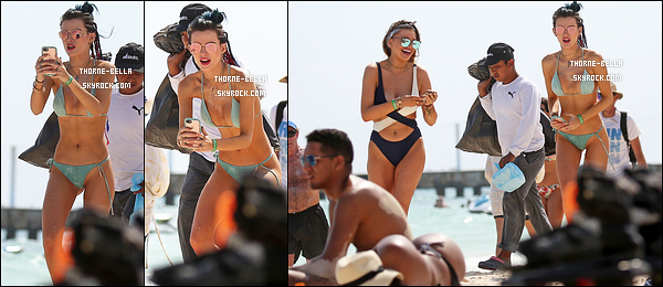 16/02/17 : Bella Thorne et une amie ont été aperçues profitant du soleil et de la plage de Cancun. (Mexique) Cette sortie a rapidement crée la polémique sur la toile car sur l'une des photos, on peut voir que Bella ne s'est pas rasée les aisselles.[/font=Arial]