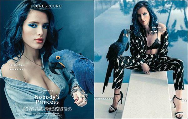 Bella Thorne fait la couverture du magazine américain « OUT » pour le mois d'avril.