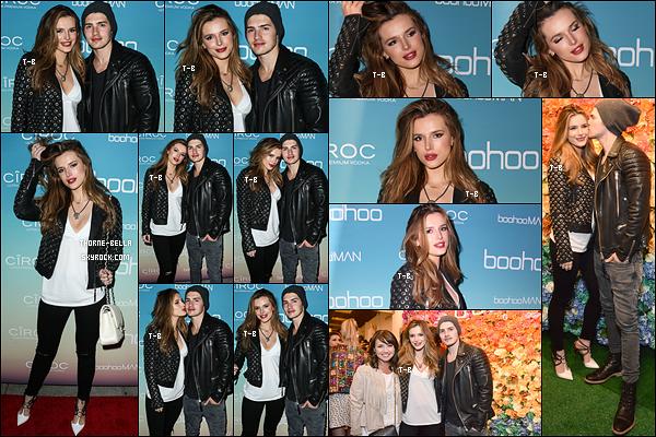 01/04/16 : Bella et Gregg se sont rendus au Boohoo.com Pop-Up Shop Launch, qui s'est tenu à Los Angeles. Pour cette sortie, nos amoureux avaient accordé leur tenue. Ah, qu'est-ce qu'ils sont mignons ensemble, j'adore ! Un top pour moi.[/font=Arial]