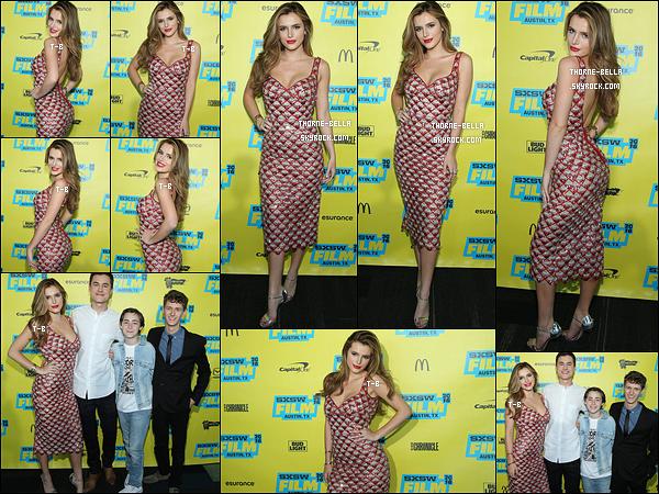 14/03/16 : B s'est rendue à la première du film Shovel Buddies qui s'est déroulée au festival du film, à Austin. Quelques uns de ses co-stars étaient également présents. Concernant la robe de Bella, c'est un magnifique top. C'est tout ce que j'aime ![/font=Arial]