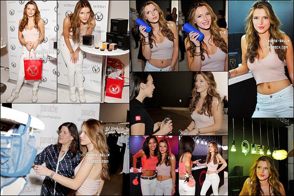 25/02/16 : Notre miss s'est rendue au Kari Feinstein's Style Lounge, organisé par LIFX, dans Los Angeles. Wahou est le seul mot qui me vient à l'esprit ! La tenue que porte Bella est très jolie. Les couleurs vont bien à son teint de poupée.[/font=Arial]