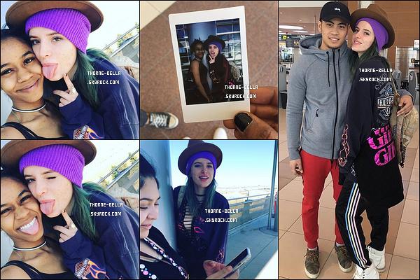 Le 30 avril, Bella s'est rendue à l'aéroport pour se rendre chez elle, à Los Angeles. Fini le tournage de Break My Heart 1000 Times et ce, pour notre plus grand plaisir. Nous devrions avoir des news de Bella très rapidement !
