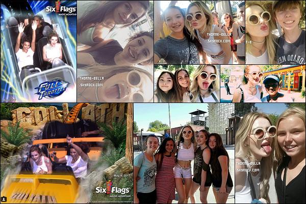 Hier, Bella et Kyra se sont rendues au parc d'attraction Six Flags, dans Santa Clarita. La belle en a profité pour poser avec ses fans. La générosité de Bella est une qualité qu'on ne pourra pas lui retirer. Ca fait très plaisir de la voir ainsi !