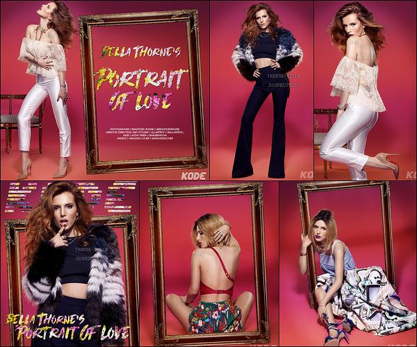 • La miss Thorne fait la couverture du magazine mode Kode pour le mois de mai. Petit fact : Le photoshoot a été réalisé en Janvier 2016 mais il aura fallu un an avant la sortie des photos. En tout cas, je trouve Bella très belle.