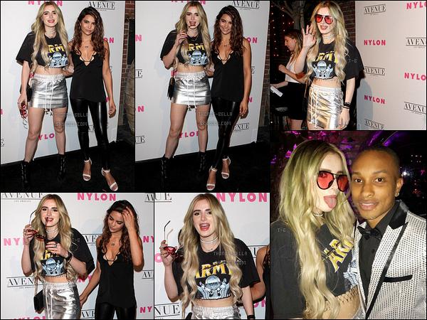 02/05/17 : Bella et Kyra Santoro se sont rendues à une soirée organisée par le magazine Nylon, à Los Angeles. Pour cette sortie, Bella portait des extensions. Préférez-vous avec ou sans ? Sinon niveau tenue, c'est pas trop mal mais elle a fait mieux![/font=Arial]