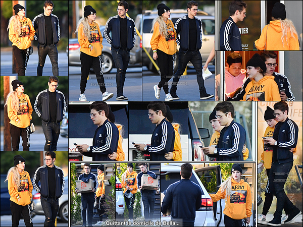 29/05/17 : Bella et Gregg Sulkin ont été aperçus allant chercher des burgers pour le déjeuner, dans Studio City. Je suis choquée mais tellement heureuse de les voir ensemble. J'espère sincèrement que ça va déboucher sur quelque chose de positif ![/font=Arial Black]