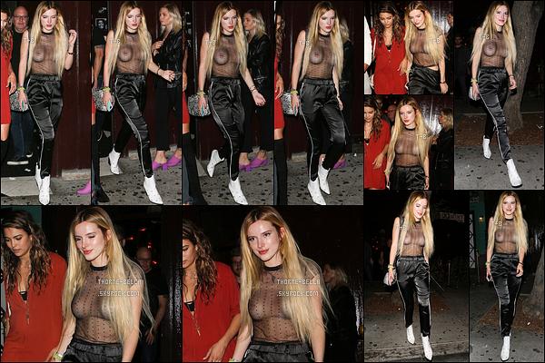02/06/17 : Bella et Kyra ont été aperçues quittant le Peppermint Club, une boite de nuit de - West Hollywood. Non mais Bella, c'est quoi cette tenue ? Ce n'est ni élégant, ni adapté pour une soirée en boite. Je ne comprends pas son choix. Flop ![/font=Arial Black]