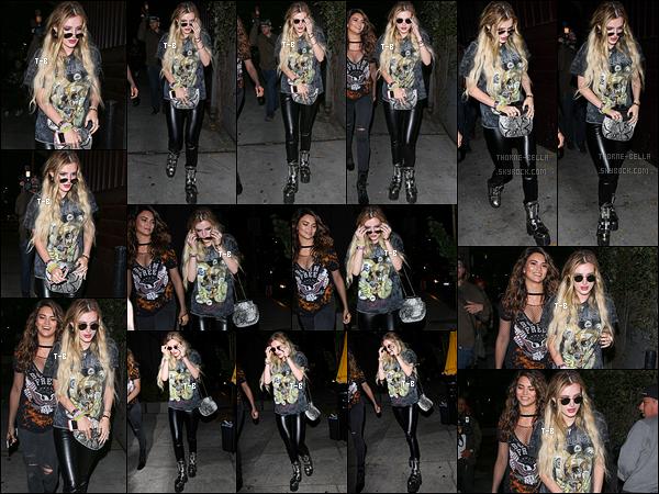 05/06/17 : Bella et Kyra ont toutes les deux été aperçues se rendant au Peppermint Club, dans Los Angeles. C'est dans une tenue rock que Bella a décidé de passer sa soirée. Je ne la porterai pas, mais ça reste fidèle au style de notre Thorne.[/font=Arial Black]
