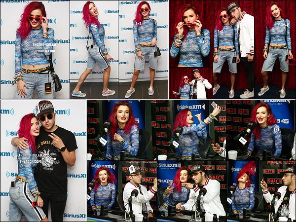 17/07/17 : Bella T. et Price Fox se sont rendus dans les studios de la radio SiriusXM qui se trouve à New York. Ils y sont rendus afin de faire la promotion de leur single intitulé Just Call sortis récemment. Plus, je n'aime pas la tenue de Bella ![/font=Arial]