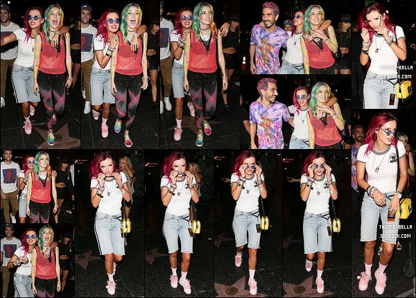11/08/17 : Toute la bande quittait le Avalon Nightclub, après avoir soutenu Dani qui mixait, à West Hollywood. Le moins qu'on puisse dire c'est que Bella était complètement déchaînée. Sinon, je ne suis pas fan de son short, qui est bien trop long.[/font=Arial]
