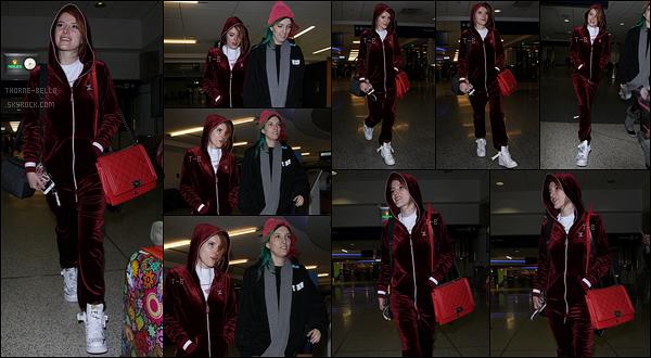 20/01/18 : Bella et son copain Modsun a été aperçue dès son arrivée, à l'aéroport de Salt Lake City, dans l'Utah. Il l'attendait là-bas avec ses fleurs favorites, des roses. Et Bel' est au Sundance Film Festival pour présenter Assassination Nation.[/font=Arial]