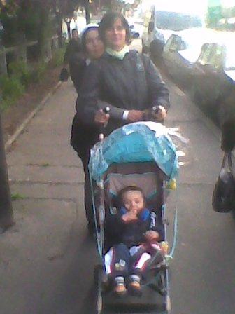 ma femme delphine et son  petit enfant