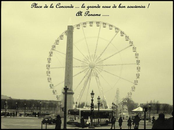 Encore la grande roue ... plaçe de la Concorde