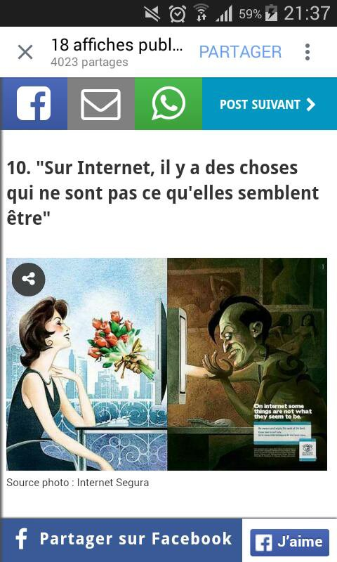 FAITE ATTENTION SUR INTERNET