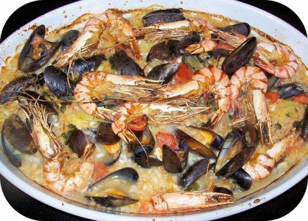 Riz-Gina-Fruit de mer au four plat