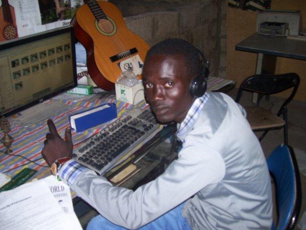 Au studio d'enregistrement