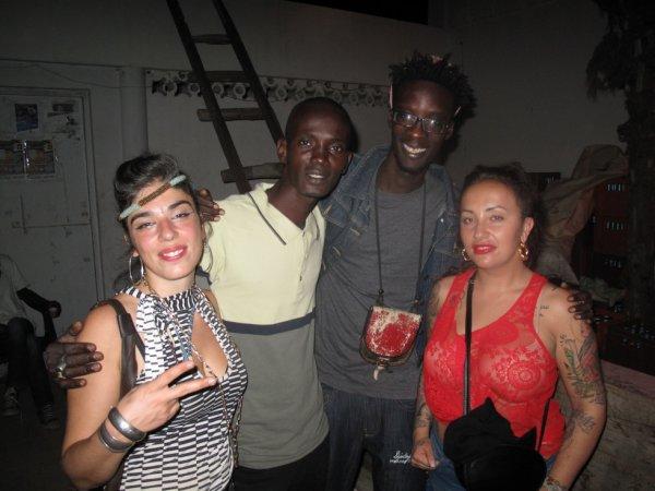 A la soirée Reggae party avec les amis du groupe de musique S-CIENCE (Staz et Corina)