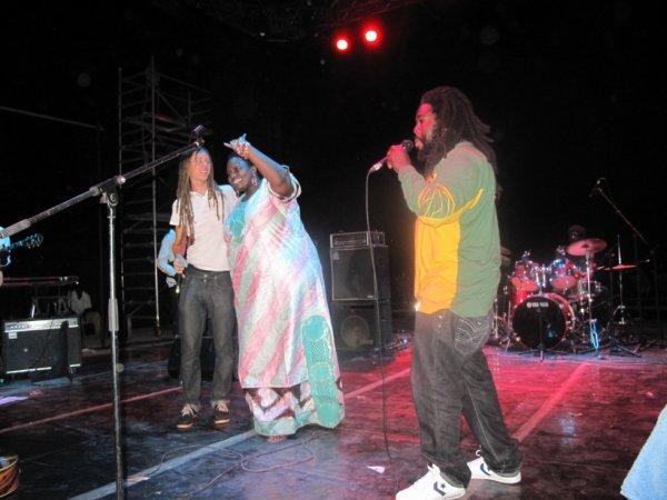 Filentre artiste reggae français et Sista-mam artiste reggae du mali