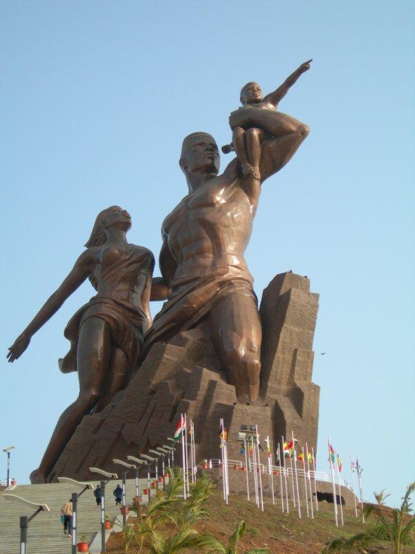 Monument de la renaissance africaine au senegal..