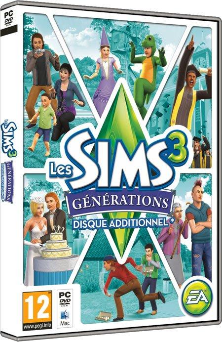 Découvre le nouveau disque additionnel Les Sims 3 Générations !