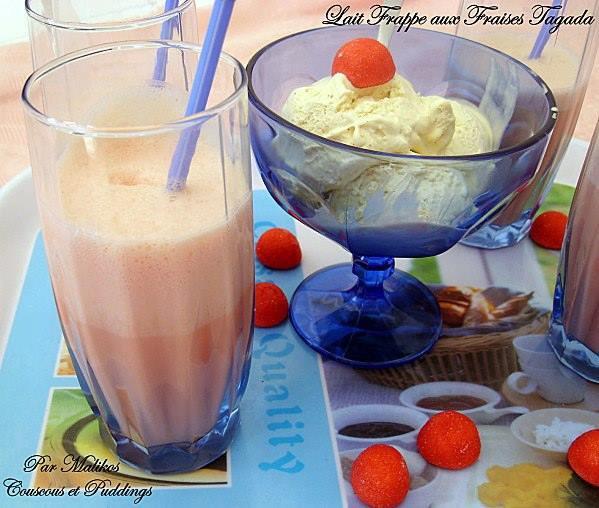 Milkshake aux Fraises Tagada