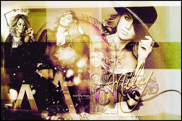 .  Bienvenue sur Destiny-Hope, votre source d'actualité sur la belle Miley Ray Cyrus ! .