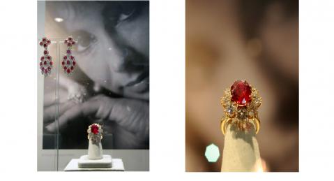 Les bijoux d'Elizabeth Taylor exposés à Paris