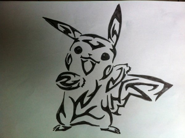 Dessins Tribal Pikachu Marion961lol