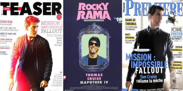 Tom fait la couverture de 3 grands magazines français, vous pouvez les acheter sur journaux.fr ou en librairie.