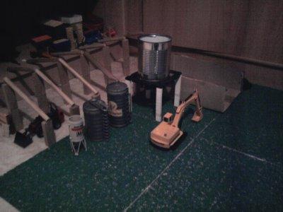 Batiment d'élevage construit par mon frère.
