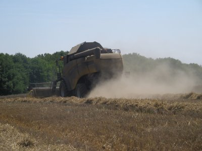 Moisson 2011: avec une new holland  cx 880!!!