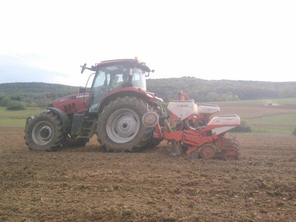 Semis de maïs 2012: avec un case ih 125 maxxum!!!