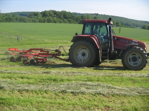 Andainage 2012: avec un case ih cs120!!!